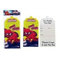 Spiderman Invitation Card, Pack of 10