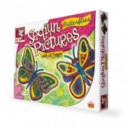 Toy Kraft Sequin Pictures Butterflies