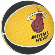 Spalding MIAMI HEAT Basket Ball - Size 7 (Yellow/Black/White )