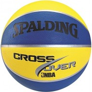 Spalding NBA Cross Over Basketball Size-7 ( Yellow/Black)