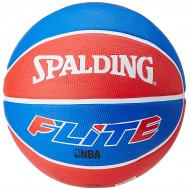 Spalding Flite Basketball Size-7 ( Blue/White/Red)