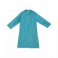 Silverthread Elegant Linen Kurta Deep Blue