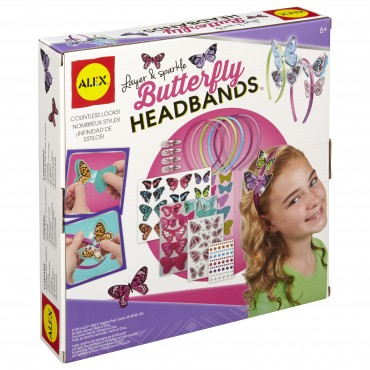 Alex Toys Layer And Sparkle Butterfly Headbands