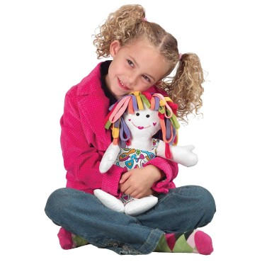 Alex Toys Color A Cuddle Washable Doll