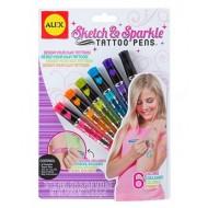 Alex Toys Sketch And Sparkle Tattoo Pens