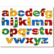 Wood O Plast Alphabet Tray English Lower Case