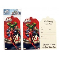 Avengers Invitation Card, Pack of 10