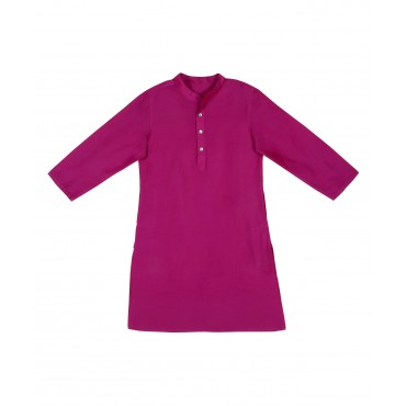 Silverthread Plain Kurta With Festive Jacket Purple