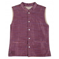 Silverthread Woven Brocade Jacket Purple