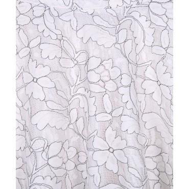 Silverthread Net Skirt White