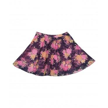 Silverthread Net Skirt Blue Pink