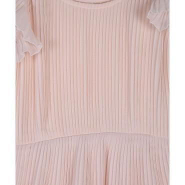 Silverthread Crinkled Dress Peach