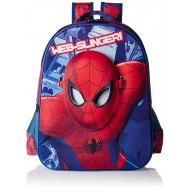 Spiderman Face Mask School Bag 16 Inch