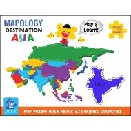 Imagimake Mapology Destination Asia Map Puzzle