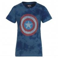 Captain America Indigo T-Shirt CA0FBT1200