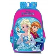 Disney Frozen Sister Rules Pink Blue School Bag 14 inch