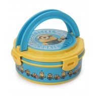 Minion Insulated Round Lunch Box Blue