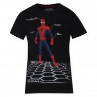 Spiderman Black T-Shirt SM0FBT711