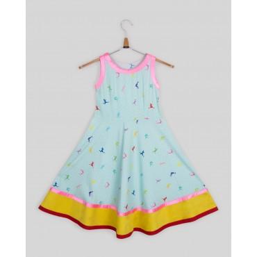 Silverthread Umbrella Style Dress