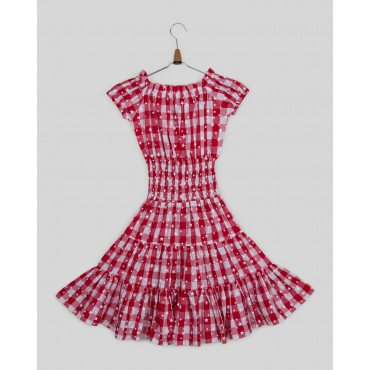 Silverthread Stylish Check Print Dress