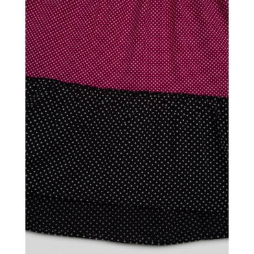 Silverthread High Low Polka Dot Dress