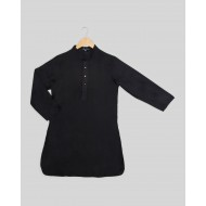 Silverthread Boys Plain Kurta Black