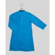 Silverthread Plain Kurta with Stylish Brocade Jacket