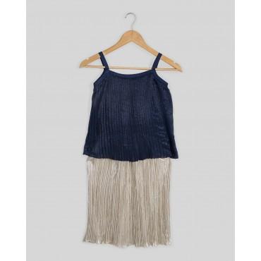 Silverthread Stylish Crinkled Dress