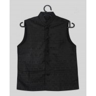 Silverthread Boys Nehru Jacket Black