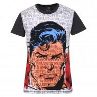 Superman Black White T-Shirt SP0FBT981