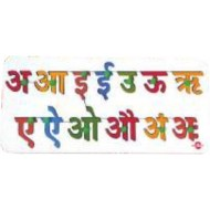 Wood O Plast Hindi Alphabet Tray Set Swar