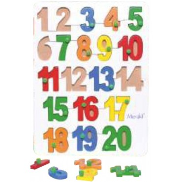 Wood O Plast Numbers 1-20 Tray Set