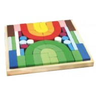 Wood O Plast Building Blocks Large 62 Blocks
