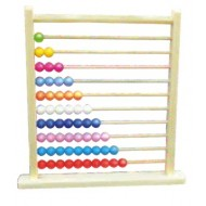 Wood O Plast Abacus Large with Plastic Beads 55 Beads
