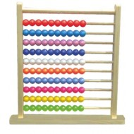 Wood O Plast Abacus Large with Plastic Beads 100 Beads