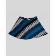 Silverthread Ikkat Print Skirt