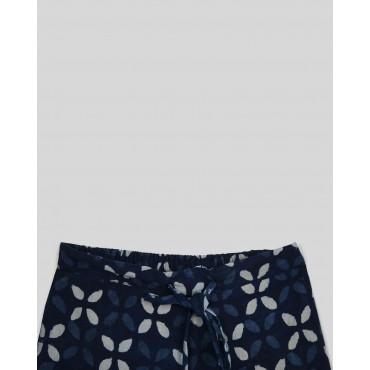 Silverthread Indigo Block Printed Pants