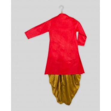 Silverthread Stylish Sherwani Dhoti Set