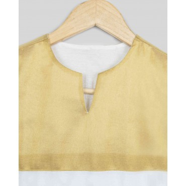 Silverthread Girls Kurta With Yolk