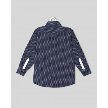 Silverthread Smart Party Wear Shirt Blue