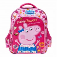 Peppa Pig Floral School Bag 14 inch Pink