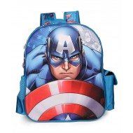 Captain America Blue EVA School Bag 14 inch