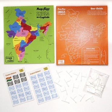 Imagimake Mapology India with Capitals