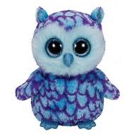 Jungly World Beanie Boo Oscar Owl blue purple 6inch