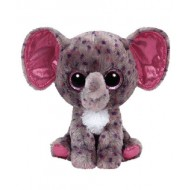 Jungly World Beanie Boo Specks Grey Speckled Elephant 6 inch