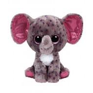 Jungly World Beanie Boo Specks Grey Speckled Elephant 6 inch