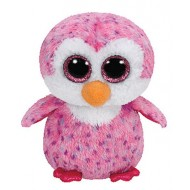 Jungly World Beanie Boo Plush Glider Penguin Pink 6 inch