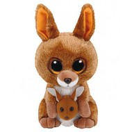 Jungly World Beanie Boo KIPPER kangaroo brown 6 inch