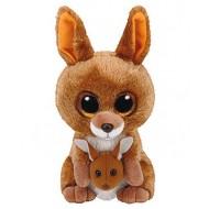 Jungly World Beanie Boo KIPPER kangaroo brown 6 inch