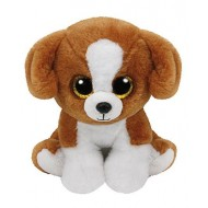 Jungly World Beanie Babies Snicky Dog Brown white 6 inch